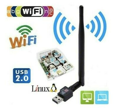 WiFi Dongle/Adapter 600 Mbps 2.40 Ghz USB Wireless 802.11 For Windows/Mac- UK • 7.99£