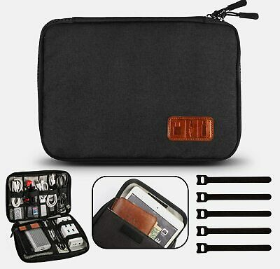 Travel Electronic Accessories Cable Organiser Bag For Electricals Phones Cables • 13.59£
