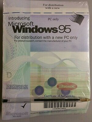 Microsoft Windows 95 Sealed With COA • 16£