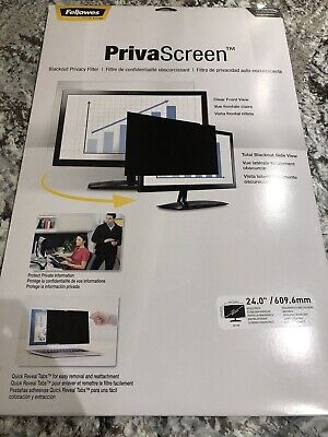 "Fellowes PrivaScreen Blackout Privacy Filter 24"" CRC48016 NEW • 46.99£"