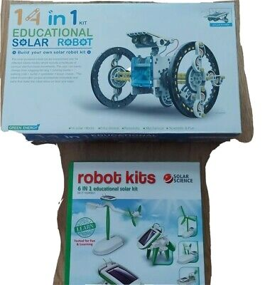Enginearing Robot Fun Kit 14 In 1 And 6 In 1 Solar Powered • 4.99£
