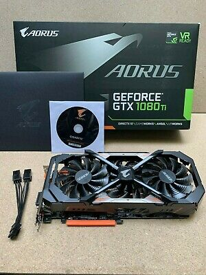 GIGABYTE AORUS GeForce GTX 1080 Ti GDDR5X 11GB *NEXT DAY DELIVERY BEFORE 1PM* • 575£