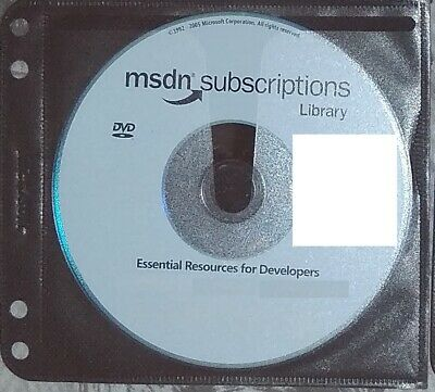 July 2005 DVD Setup - Microsoft MSDN Subscriptions Library Genuine Disc + Sleeve • 9.90£