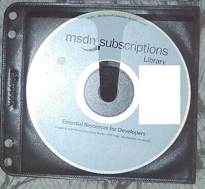 July 2005 Disc 1 Setup CD - Microsoft MSDN Subscriptions Library Genuine + Slv • 6.90£