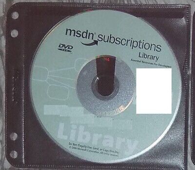 2006 January DVD - Microsoft MSDN Subscriptions Library Genuine Disc + Sleeve • 9.90£