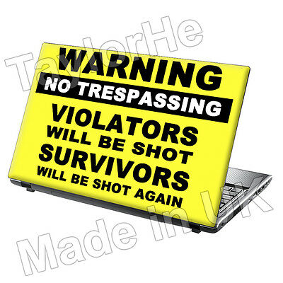 15.6  Laptop Skin Cover Sticker Decal Funny Warning 18 • 8.95£