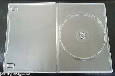 10 Genuine Clear Amaray Single DVD Cases • 5.49£