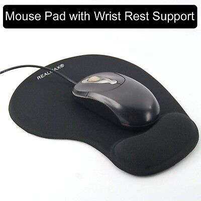 Black Mouse Pad Gel Wrist Rest Support Mat Slip Resistant Soft Textured Surface • 5.99£