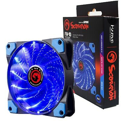 Scorpion Blue 120mm 15x Blue LED Lights 12cm Cooling Fan PC Computer  • 5.50£