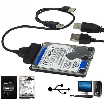 USB To Sata External HDD SSD Hard Disk Dirive Adapter 2.5  Converter Lead Cable • 4.99£