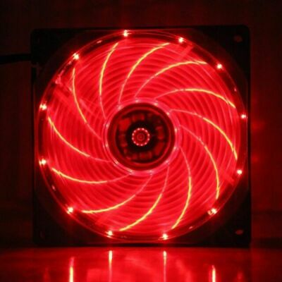 1ST Player 15 X Red LED 120mm Case Fan • 3.99£