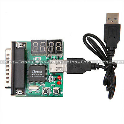 Powerful 4-Digit PC Analyzer Diagnostic Motherboard Tester USB Post Test Card • 2.54£