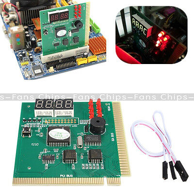 LED 4 Digit Analysis Diagnostic Tester POST Card PCI PC Analyzer Motherboard • 3.34£