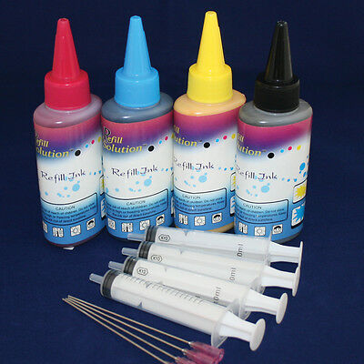 400ML Quality Pigment Ink Kits Set For Canon Printer Refillable Cartridge & CISS • 20.90£