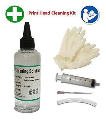 Unblock Print Head Nozzles For Epson Printer Cleaning Kit Cleaner Flush  • 9.99£