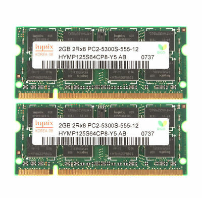 Memory Ram Laptop DDR2 PC2 5300S 667 MHz SODIMM  2x Lot GB VARIOUS BRAND • 30.99£