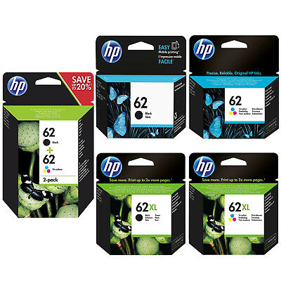 Genuine HP 62 Combo / 62XL Black & Colour Ink Cartridges *Choose Your Ink* • 18.60£