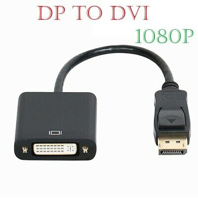 Display Port DP Male To DVI-D & DVI-I Female Adapter Cable Converter Lead 4K HD • 3.25£
