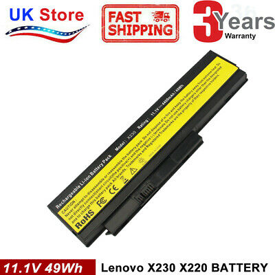 For Lenovo 6 Cell 44+ ThinkPad X220 X230 Battery TESTED GUARANTEED 2.5 Hours + • 18.99£