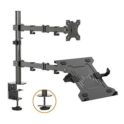 VonHaus Monitor Mount With Laptop Stand / Tablet Holder Shelf & Cable Management • 39.99£