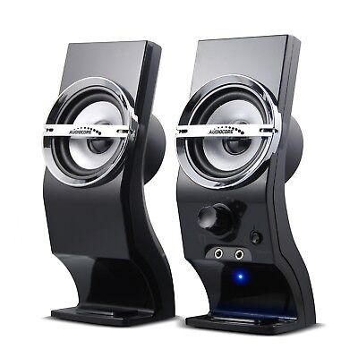 USB Speakers Computer PC Notebook Laptop Stereo 6W Headphone Input Clear Sound  • 12.36£