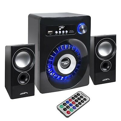 PC Bluetooth Speakers 2.1 Stereo Remote Subwoofer Clear Sound  USB SD FM JACK UK • 30.62£