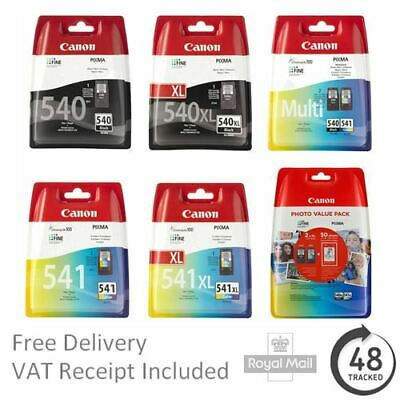 Genuine Canon PG540 / PG-540XL & CL541 / CL541-XL Ink Cartridges - PIXMA MG3600 • 39.95£