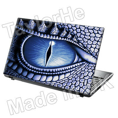 TaylorHe 13 -14  Laptop Skin Cover Vinyl Sticker Blue Fantasy Dragon Eye • 7.95£