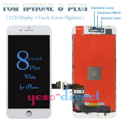 For IPhone 8 Plus LCD 3D Touch Screen Display Digitizer Replacement  White • 16.99£