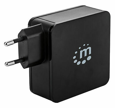 Manhattan Charger 60W With Ports Usb-C And Usb-A Black • 28.59£