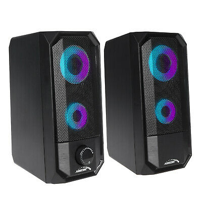 Extra Loud Bluetooth Speakers PC Laptop W LED 10W AUDIOCORE Clear Sound Wireless • 26.70£