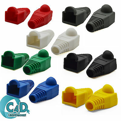 RJ45 Cat5e Cat6 Ethernet Network LAN Patch Cable Connector Boot Cover BOOTS Lot • 3.35£