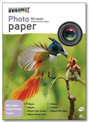 A4 Premium Photo Paper 100% Waterproof RC High Gloss 190 Gsm -20 Sheets • 4.25£