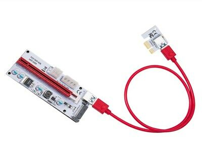 1-Pack LATTCURE PCIe PCI-E 16x To 1x Powered Riser Adapter Card W/ 60cm USB 3.0  • 6.99£