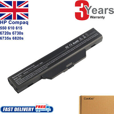 For HP Compaq 610 615 550 6720s 6730s 6735s 6820s Battery 491278-001 HSTNN-IB51 • 14.99£