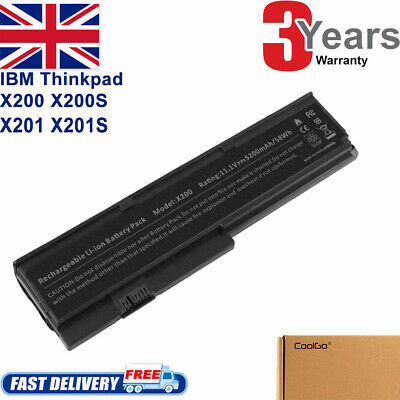 Laptop Battery For Lenovo 43R9255 IBM ThinkPad X200 X201 Notebook 6 Cell • 10.85£