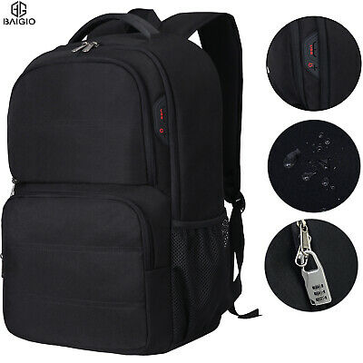 17.3 Inch Laptop Backpack USB Anti Theft Waterproof Large Business Travel Bag UK • 19.99£