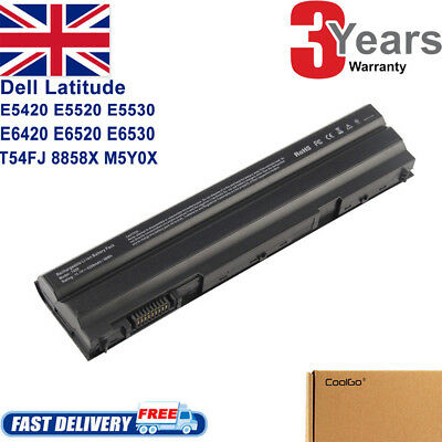 For DELL LATITUDE E5420 E5430 E6420 E6430 E6520 60WH BATTERY T54FJ TVMVN • 17.99£