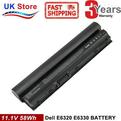 Battery For DELL LATITUDE E6220 E6230 E6320 E6330 E6430S BATTERY RFJMW FRR0G TOP • 18.99£