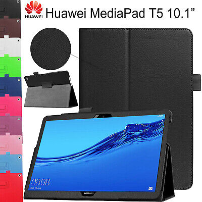 Case For Huawei Mediapad T5 10.1 2018 Leather Folio Slim Book Stand Smart Cover • 7.98£