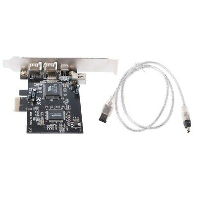 PCI-e 1X IEEE 1394A 4 Port (3+1) Firewire Card Adapter With 6 Pin To 4 Pin IEEE  • 9.40£