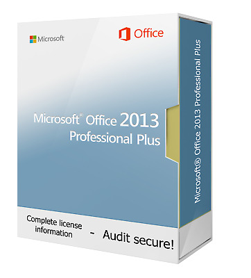 Microsoft Office 2013 Professional Plus - New & Original - Download ESD • 34.99£