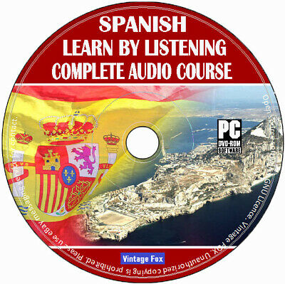 Spanish Language Course Learn By Listening From Beginners To Advance Audio CD • 2.99£