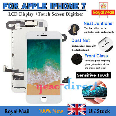 For IPhone 7 Screen Replacement LCD 3D Touch Display Digitizer Camera 4.7' White • 19.99£