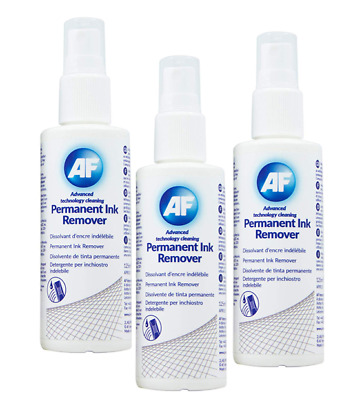 AF Permanent Ink Remove Spray For Permanent Marker Pen Or Biro, Whiteboards 125 • 8.48£