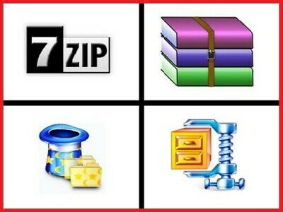 UK !!! 7ZIP UNZIP RAR Windows File Archive Compression Compatible WinZIP WinRAR • 0.99£