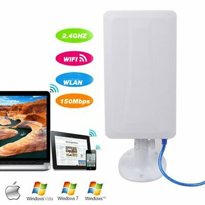 USB Long Distance Range WiFi Antenna Booster Wireless Outdoor/Indoor Mounting • 17.99£