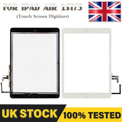 For IPad 5 Air 1st Touch Screen Glass Digitizer + Button A1474 A1475 A1476 White • 10.59£