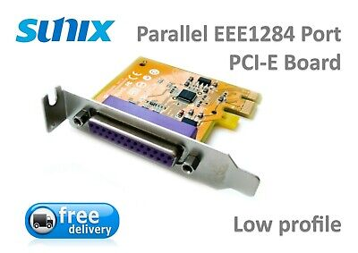 Sunix Parallel LPT EEE1284 Port PCI-e Low Profile Card Board • 9.85£