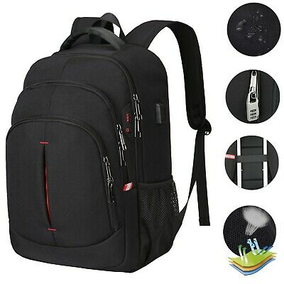 15.6in Laptop Backpack Anti Theft Waterproof USB RFID Rucksack Travel School Bag • 18.99£